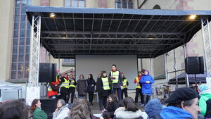 Mitglieder des Aktionsbündnisses des Frauenreferates der Stadt Frankfurt/Main. Foto: DOSB