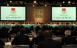 Die delegierten bei der IOC-Session in Vancouver haben sich für Nanying als Ausrichter der 2. Olympischen Jugendspiele (Sommer) entschieden. Copyright: picture-alliance