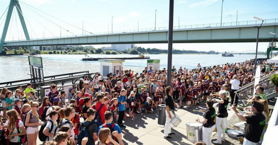 In diesem Jahr fällt der Olympic Day am Rheinufer aus, dafür findet er digital statt. Foto: DOA/Schulz