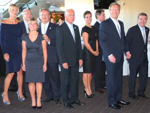 Die Münchner Delegation vor der Präsentation im ICC im südafrikanischen Durban. Foto: picture-alliance