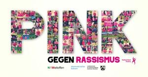 Pink ist die Farbe gegen Rassismus im LSB Nordrhein-Westfalen. Grafik: LSB NRW