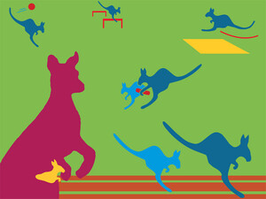 Fünf Disziplinen müssen die Kinder für das Känguru-Abzeichen absolvieren. Bildnachweis: LSB Berlin