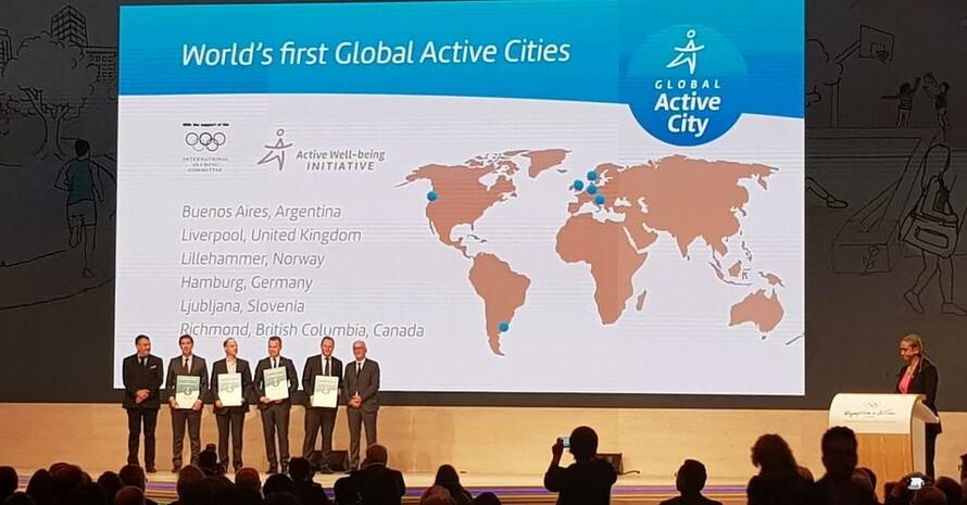 Hamburg zählt zu den sechs Städten weltweit, die zu Beginn der Olympischen Jugendspiele in Buenos Aires, mit dem Global-City-Award ausgezeichnet wurden. Foto: DOSB