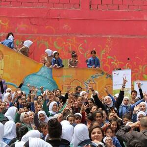 Kinder und Jugendliche feiern die Kraft des Sport für soziale Entwicklung in Jordanien © DOSB