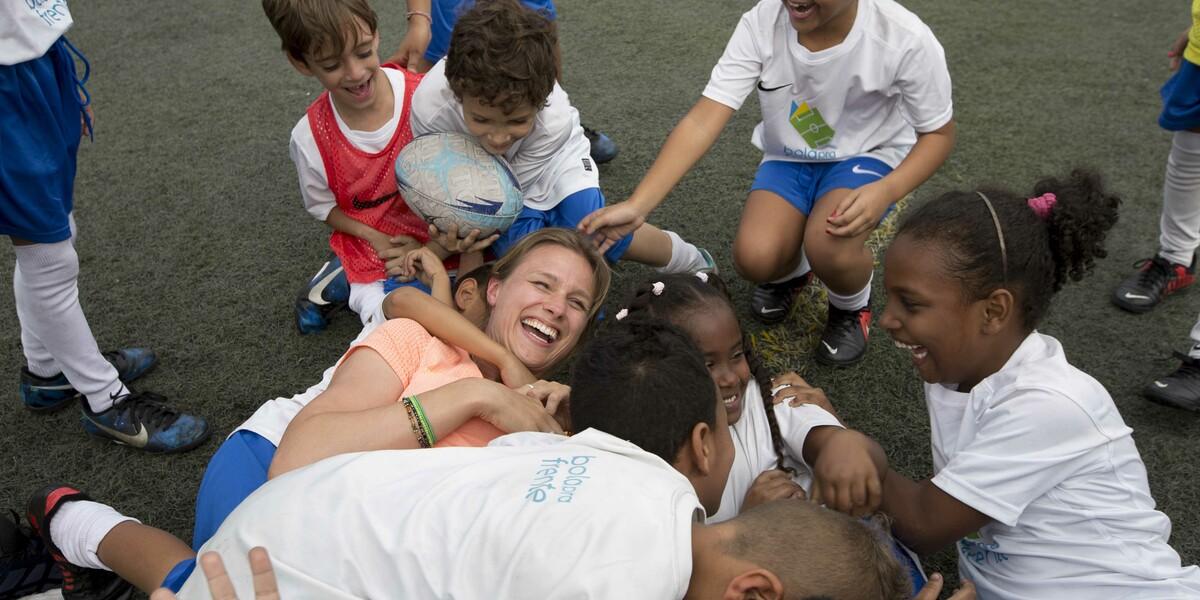 Botschafterin Britta Heidemann im Einsatz in Brasilien © GIZ Terranova
