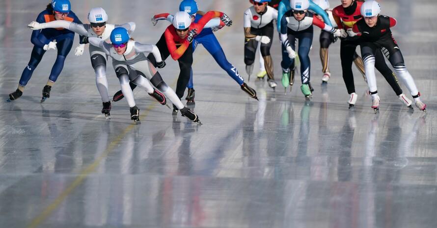 Eisschnelllaufen stand auch am 7. Tag auf dem Programm der Olymischen Jugendspiele in Lausanne. Foto: OIS/Jed Leicester