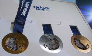 Die Medaillen der letzten Olympischen Winterspiele in Sotschi. Foto: picture-alliance