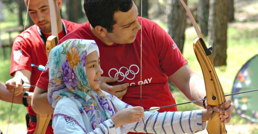 Beim Olympic Day konnten die Kinder zahlreiche Sportarten ausprobieren. Foto: DOSB