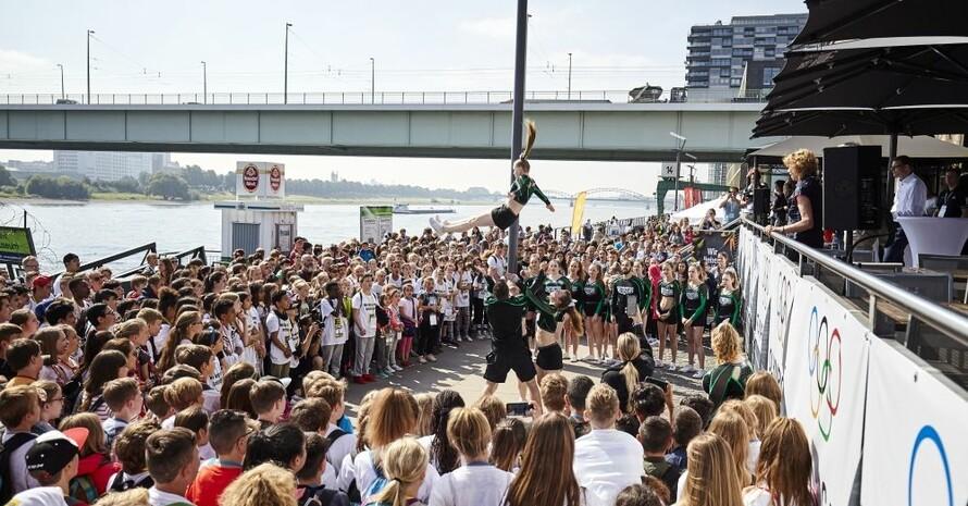 Tolle Stimmung herrschte beim Olympic Day, der am Deutschen Sport & Olympia Museum am Rheinufer in Köln gefeiert wurde. Foto: DOSA / Maria Schulz