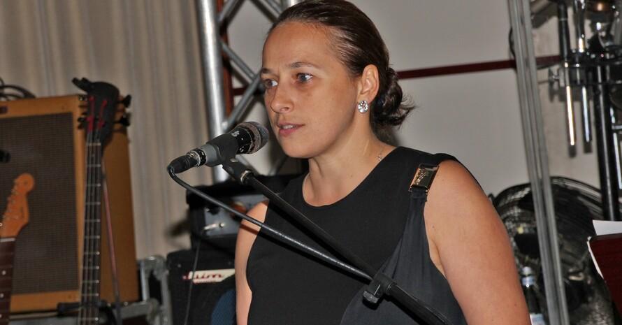 Anna-Arzhanova sprach als Präsidentin des Weltverbandes. Foto: VDST/Carsten Leidenroth
