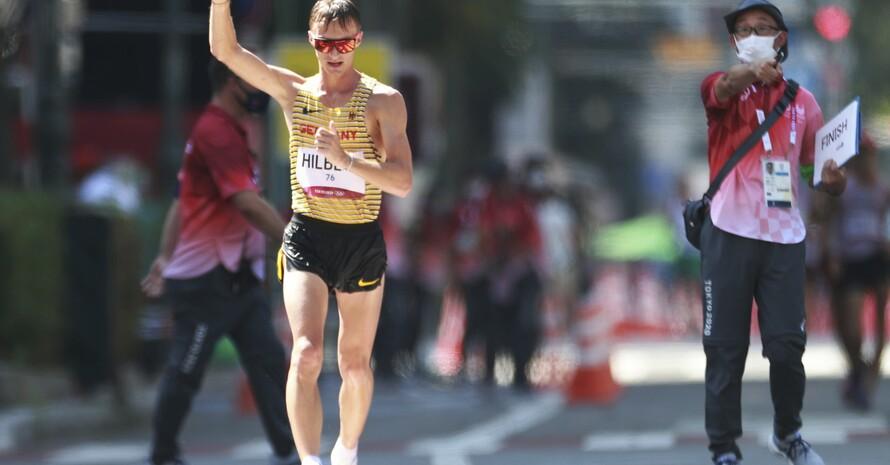 50 Kilometer und fast vier Stunden lang hatte Jonathan Hilbert wie ein Löwe gekämpft und dann Silber gewonnen. Foto: picture-alliance