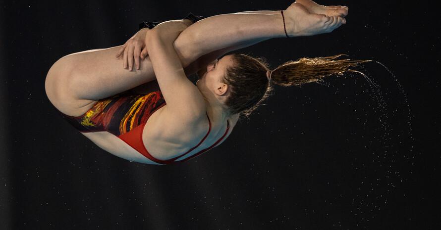 Wasserspringerin Elena Wassen in Aktion. Foto: OIS
