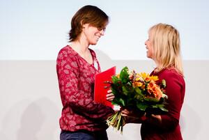 Jutta Heeß bei der Preisverleihung in Leipzig, Foto: DOSB/bewahrediezeit.de