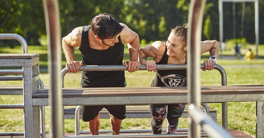 Die Fitness-Location eignen sich für Menschen jeden Alters und Fitnessniveaus. Foto: DTB/BARMER