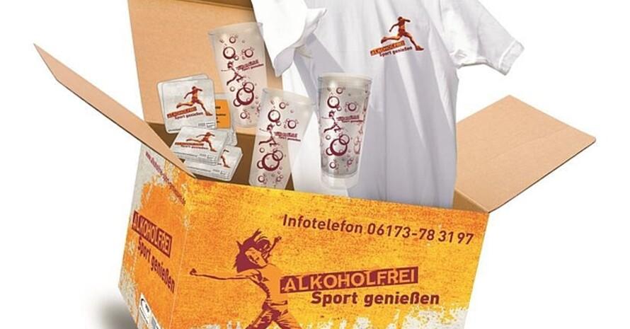 "Aktionsbox ""Alkoholfrei Sport genießen""; Foto: BZgA"
