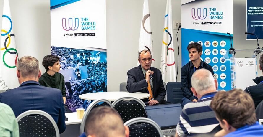 Teilnehmer*innen an einem Media Workshop zu den Weltspielen in Birmingham, Alabama (USA); Foto: The World Games