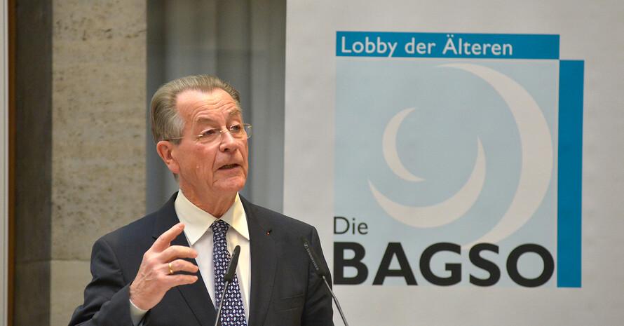 Franz Müntefering auf der Mitgliederversammlung der BAGSO, Foto: BAGSO/Greuner