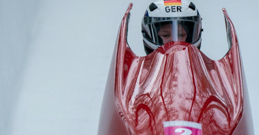 Celine Harms gewinnt Bronze im Monobob Foto: Olympic Information Services