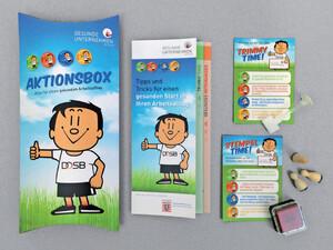Trimmy, das Maskottchen des Deutschen Olympischen Sportbundes (DOSB),  soll die Mitarbeiter zum Mitmachen animieren. Foto: DOSB
