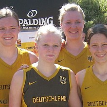 Das Basketball-Team für die Youth Olympic Games.