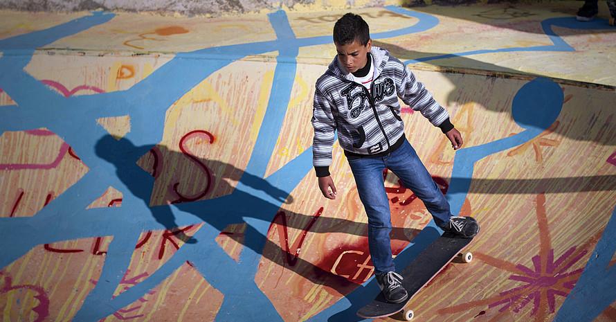 Skatepark in Bethlehem © Nina Constable