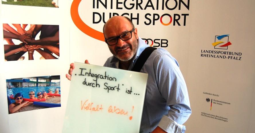 """... Vielfalt leben"""" (Reinald Kauer, Vizepräsident Vereinsentwicklung Sportbund Rheinhessen)"""