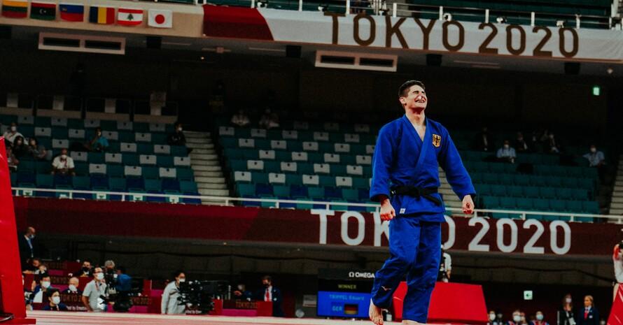 Nach dem Einzug ins Finale weiß Eduard Trippel, dass er Silber bereits sicher hat. Foto: TeamDeutschland/Max Galys