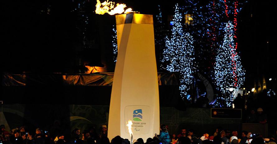 Die Abschlussfeier der Paralympics 2010 in Whistler. Copyright: picture-alliance