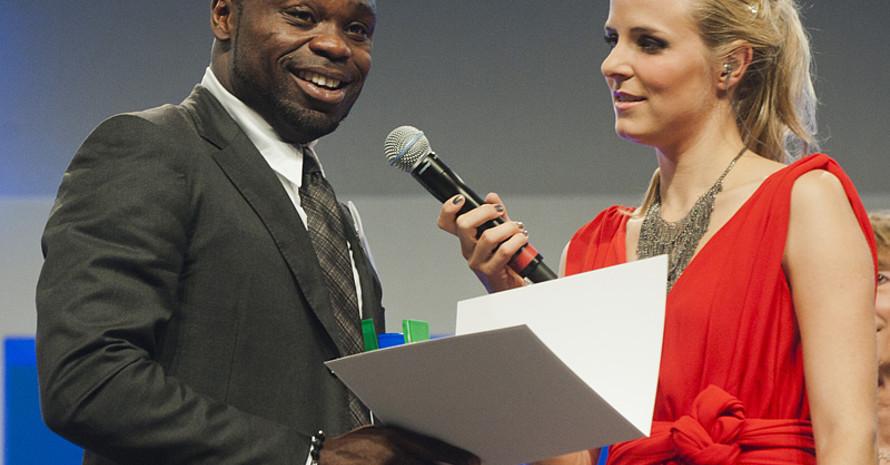 Preisträger Gerald Asamoah. Foto: BMI/Rickel