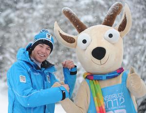 Wer wird sein Nachfolger?! Yoggl, Maskottchen der Winterspiele 2012 in Innsbruck.