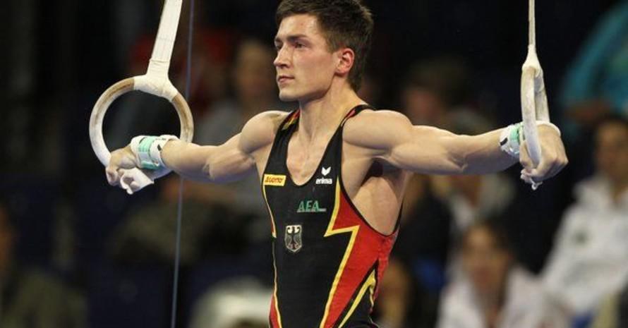 Philipp Boy an den Ringen bei den Europameisterschaften 2011 in Berlin. Foto: picture-alliance