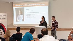 Florettfechterin Anne Sauer liegen die Themen Werteerziehung und Doping am Herzen. Foto: DOA