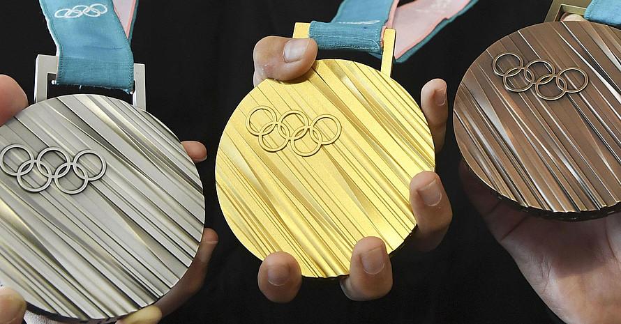 Die Olympischen Medaillen von PyeongChang 2018. Foto: picture-alliance