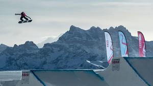 Annika Morgan beim Big Air Wettkampf in Lausanne. Foto: Olympic Information Services