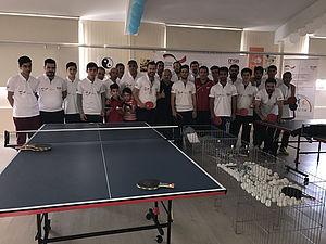 Das gemeinsame Tischtennisspiel hat alle Teilnehmer des Workshops begeistert.