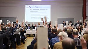 Die Mitgliederversammlung des HSB im Haus de Sports. Foto: HSB/Witters