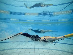Finswimming wird am Samstag, den 27. Juni im Baku Aquatics Center präsentiert. Foto: picture-alliance