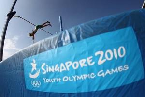 Zur Halbzeit bilanziert der Sport eine gelungene Premiere für die Olympischen Jugendspiele in Singapur. Copyright: picture-alliance