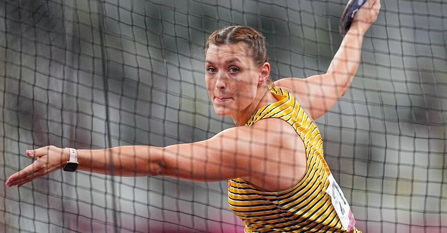 Ein starker Wurf im fünften Versuch schob Kristin Pudenz auf den zweiten Rang und Silber. Foto: picture-alliance