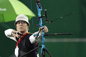 Lisa Unruh im Finalwettkampf bei den Olympischen Spielen 2016 in Rio de Janeiro (Bild: Picture Alliance)
