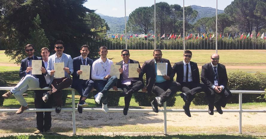 Doktorand*innen aus aller Welt  beim Postgraduierten-Seminar in Olympia Foto: DOA