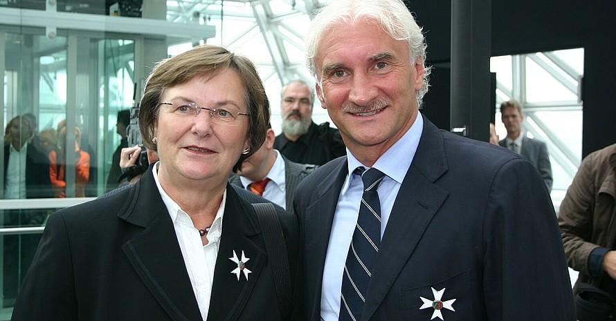 Auch Rudi Völler erhielt den Verdienstorden des Landes Nordrhein-Westfalen