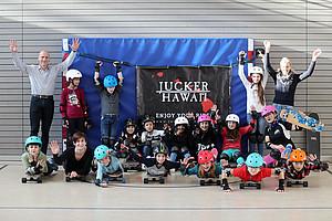 Das Skaten an der Schule machte allen Spaß