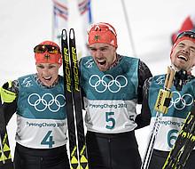 Erfolgreiche Wintersportler in PyeongChang: Die Nordischen Kombinierer überzeugen mit einem dreifachen Sieg. Foto: picture-alliance