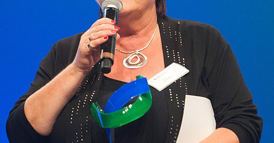 Preisträgerin Heike Schmidt. Foto: BMI/Rickel