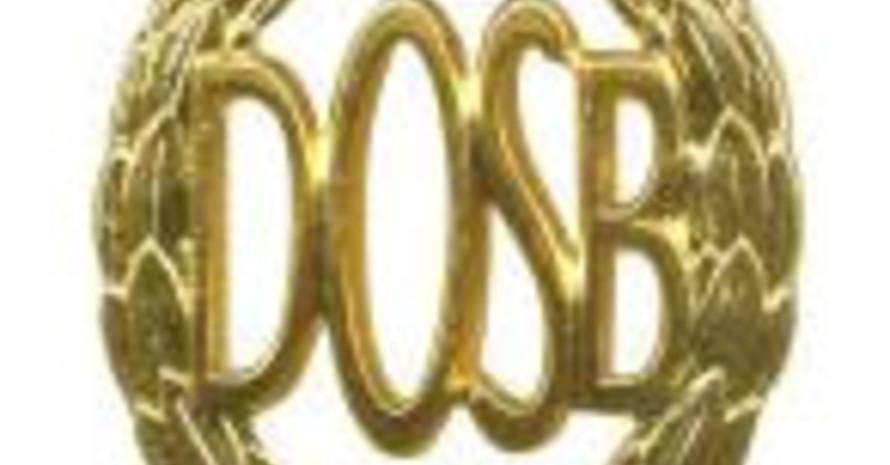 Das begehrte Sportabzeichen des DOSB in Gold.