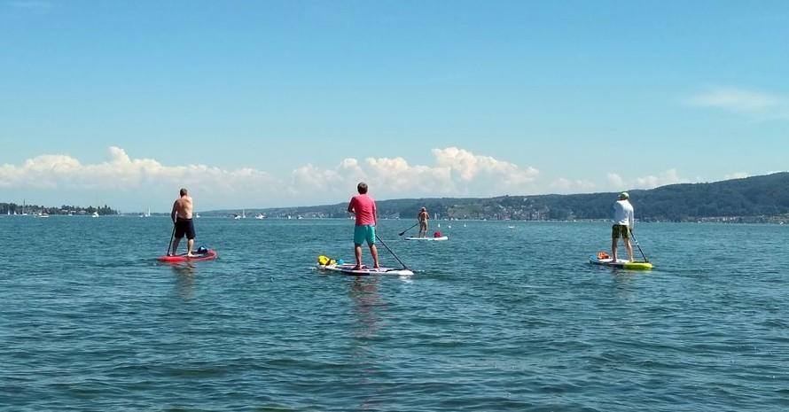 Stand-Up Paddling war in diesem Sommer der Trend auf vielen Gewässern. Foto: picture-alliance