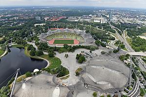 Paradebeispiel für olympisches Erbe: Der Olympiapark in München. Foto: picture-alliance