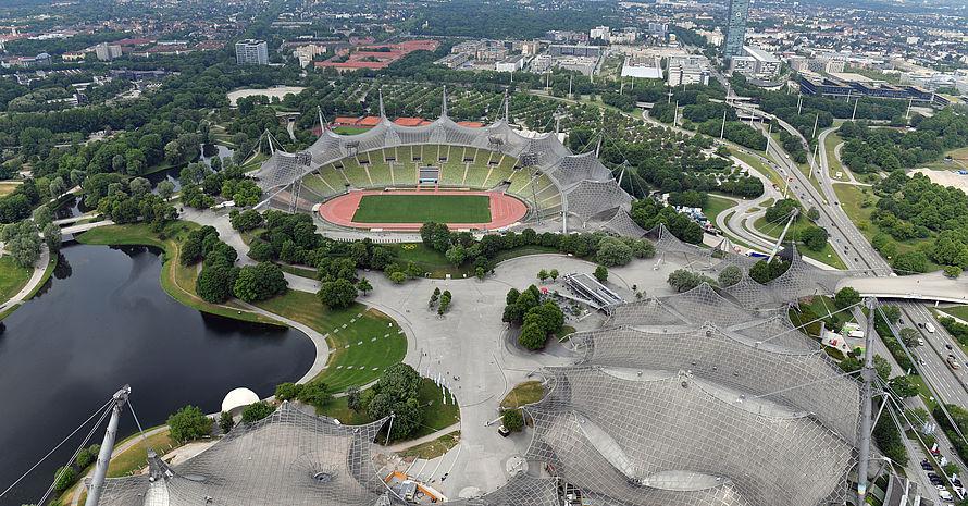 Der Münchner Olympiapark wird 2022 Schauplatz der European Championchips sein. Foto: picture-alliance/Sven Simon
