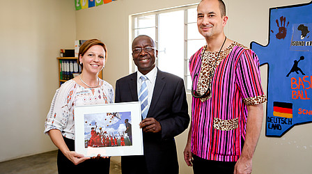 DOSB representatives and the Namibian Sports Minister Erastus Uutoni © Stefan Oosthuizen